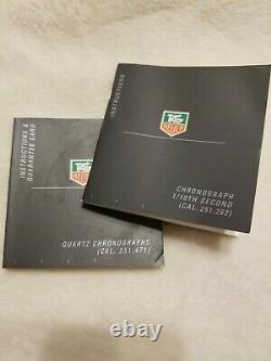 Tag Heuer Professional 2000 Ck1121 Montre Chronographe Ss Plaqué Or 18k De Deux Tons