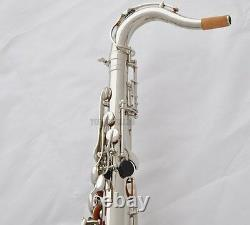 Taishan Professionnel Argent Nickel Tenor Saxophone Bb Sax Halone Shell Haute F#