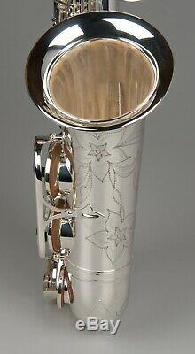 Tempest Eb Saxophone Argent Engraved Mark VI Style Big Sound W Case