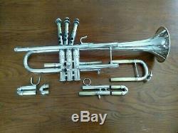 Trompette De Bach Stradivarius 43 Professional De 1977 Plaquée Argent Avec Étui D'origine