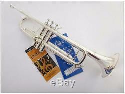 Trompette En Sib Sculptée, Corps En Tôle D'argent, Trompette Bach Lt-180s-43