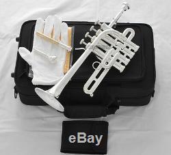 Trompette Piccolo Bb / A Corne Plaquée Argent - Piston 4 Monel Avec Étui
