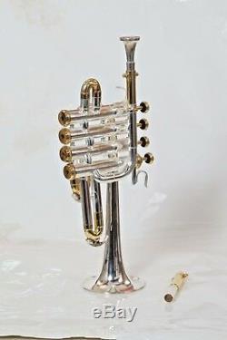 Trompette Piccolo En Or Plaqué Or Et Argent