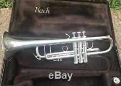 Trompette Professionnelle Avec Embase Et Embouchure Modèle 37 ML Stradivarius De Bach En Argent