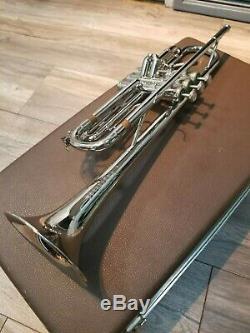 Trompette Professionnelle Studio Olderton Fullerton Studio Silver Vintage Des Années 1960