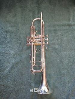 Trompette Stradivarius De Bach En Argent, Modèle 43, Poids De La Série 1022383 (early Elkhart)