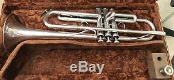 Very Nice 1965 Schilke B1 Bb Trompette Avec L'original Rigide Et Embouchure