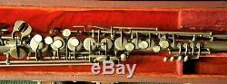 Vieux Low Pitch Français Adolphe Sax Soprano Saxophone