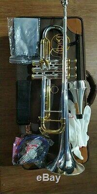Vincent Bach Model 72 Professional Gold Key Trompette En Métal Argenté