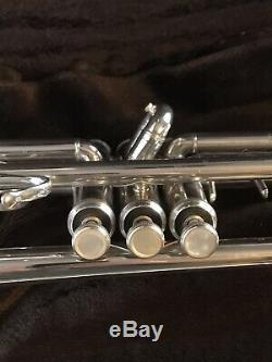 Vincent Bach Stradivarius Modèle 37 Professional Trompette En Argent Plaqué Poli