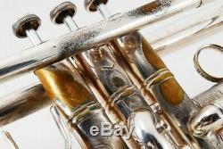 Vincent Bach Stradivarius Modèle 37 Trompette D'argent Withhard Cas