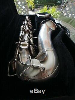 Vintage 1951 Saxophone Alto Conn 6m Femme Nue En Argent Plaqué # 338433521