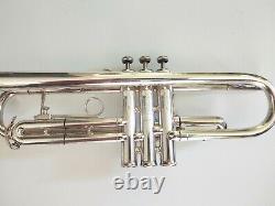 Vintage 1971 King Silver Flair Trompette Professionnelle Plaquée Avec Boîtier D'origine