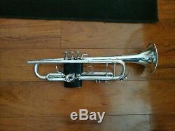 Vintage 1978 Bach Stradivarius 37 Professional Trompette Avec Étui Rigide