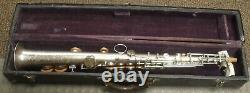 Vintage American Professional Straight Silver Plaqué Soprano Saxophone 1910-1915