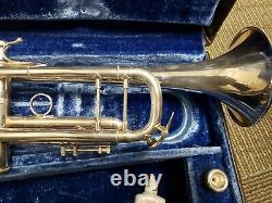 Vintage Bach Stradivarius Lt180s43 43 Trompette D'argent Avec La Société Bell