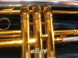 Vintage Chicago Benge B Trompette Plat, Série # 754 Joueur Awesone Garanti