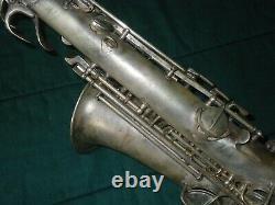 Vintage Conn New Wonder Series II Chu Berry Alto Saxophone Saxophone À Restaurer