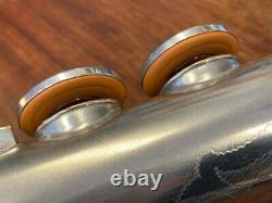 Vintage Conn Saxophone Soprano En C (!) Nr 159887 Silver Repadded Perfect
