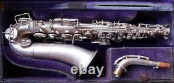 Vintage Des Années 1930 Holton 201 Apocalypse Argent Eb Alto Saxophone Révisé