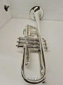 Vintage E. K Blessing Union Label Trumpet #2081 Silver Plaqué