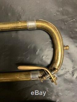 Vintage H. N. White King (taille 2b), Trombone Argenté, Tout Original, Modèle 1915