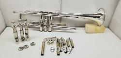 Vintage Made In Elkhart Bb Trompette Argent Plaqué Finition