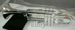 Vintage Mount Vernon Bach Trompette Stradivarius 1961 Argent Plaqué Wash De Bell