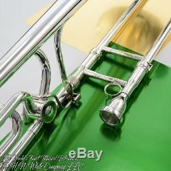 Vintage Roi 4b Sonore Symphony F Attachment Trombone Planche Originale Argent