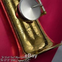 Vintage Roi H. N. Blanc Artiste Saxophone Soprano New Gold Plate