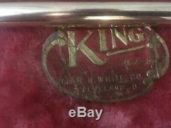 Vintage Roi Silvertone Trombone Ténor 1932 Cleveland Co Roi, Etats-unis