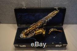 Vintage Roi Zephyr Saxophone Alto 1974 Série 5 Modèle Récents Nouveaux Pads