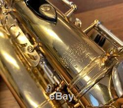 Vintage Selmer Mark VI Saxophone Alto # 146023 1967 Black Pro Repad Parfait