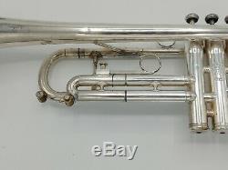 Vintage Silver King Flair 1055 Professional Trompette Avec Étui