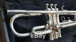Vintage Silver King Flair 1055t Trompette 1965-1970. Nouvelle Branche D'embouchure. # 455118 Bonne