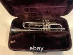 Vintage Silver Selmer Paris K Modifié Trompette 24b Avec Boîtier Original