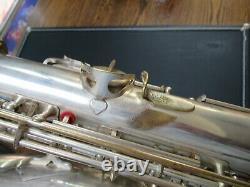 Vintage Sml Super 1948 Silver Plated Alto Saxophone- Beautiful- Prêt À Jouer