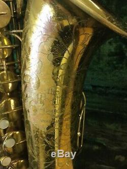 Vintage The Martin Comité De Saxophone Ténor III Des Années 1950 # 188xxx