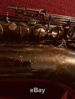 Vintage The Martin Comité De Saxophone Ténor III Des Années 1950 # 195xxx