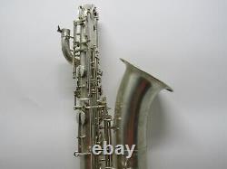Vintage Weltklang Baryton Saxophone Rda Allemagne, Bas A