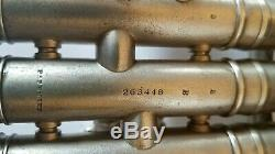 Vtg. 1929 C. G. Conn Ltd. Trompette En Argent Plaqué Avec Une Cloche En Or, 2 B Plus Des Suppléments