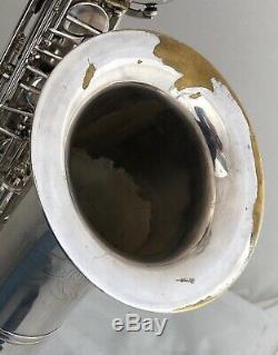 Weltklang Basse Baryton Plaqué Argent # Série Saxophone 719 Trous De Ton Roulées