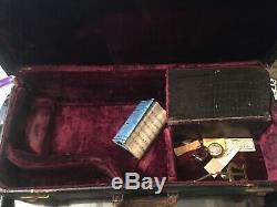 Ww1 Usn Marine 1918 Cg Conn Argent New Wonder Sax Alto Saxophone Broadus S4