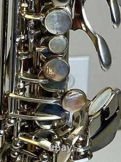 Yamaha Modèle Yss-875s Custom Soprano Saxophone Sn 001336 Plaqué Argent