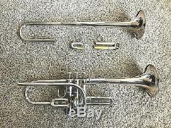 Yamaha Trompette Ytr-9610 Personnalisé E Plat / D Trompette Argent