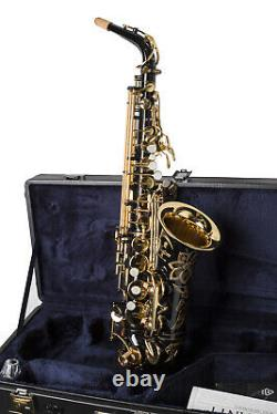 Yamaha Yas82z Iib Saxophone Professionnel Alto Personnalisé En Laque Noire
