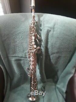 Yamaha Yss-875 Sax Sax Soprano Personnalisé Argent