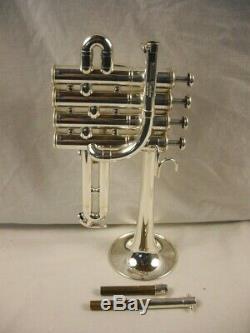 Yamaha Ytr-9830 Bb A 4 Valve Professionnelle Argent Trompette Piccolo Beau