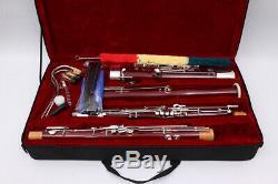 Yinfente Clés Ton Professionnel Basson Maple C Plaqué Argent Avec Bassoon Case