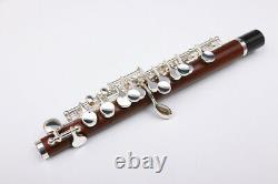 Yinfente Profession Piccolo C Key Top Natural Old Rosewood Corps Plaqué Argent